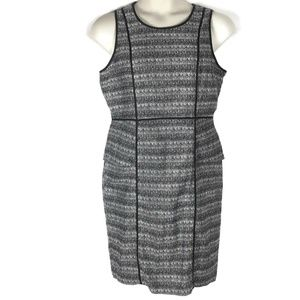 Liz Claiborne 14 Black White Tweed Dress